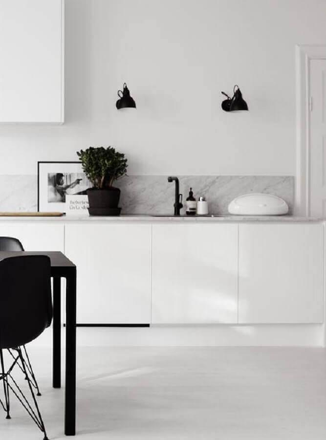decoração clean para cozinha branca Foto Homey Oh My
