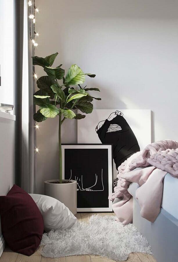 decoração com quadros tumblr apoiados na parede Foto Pinterest