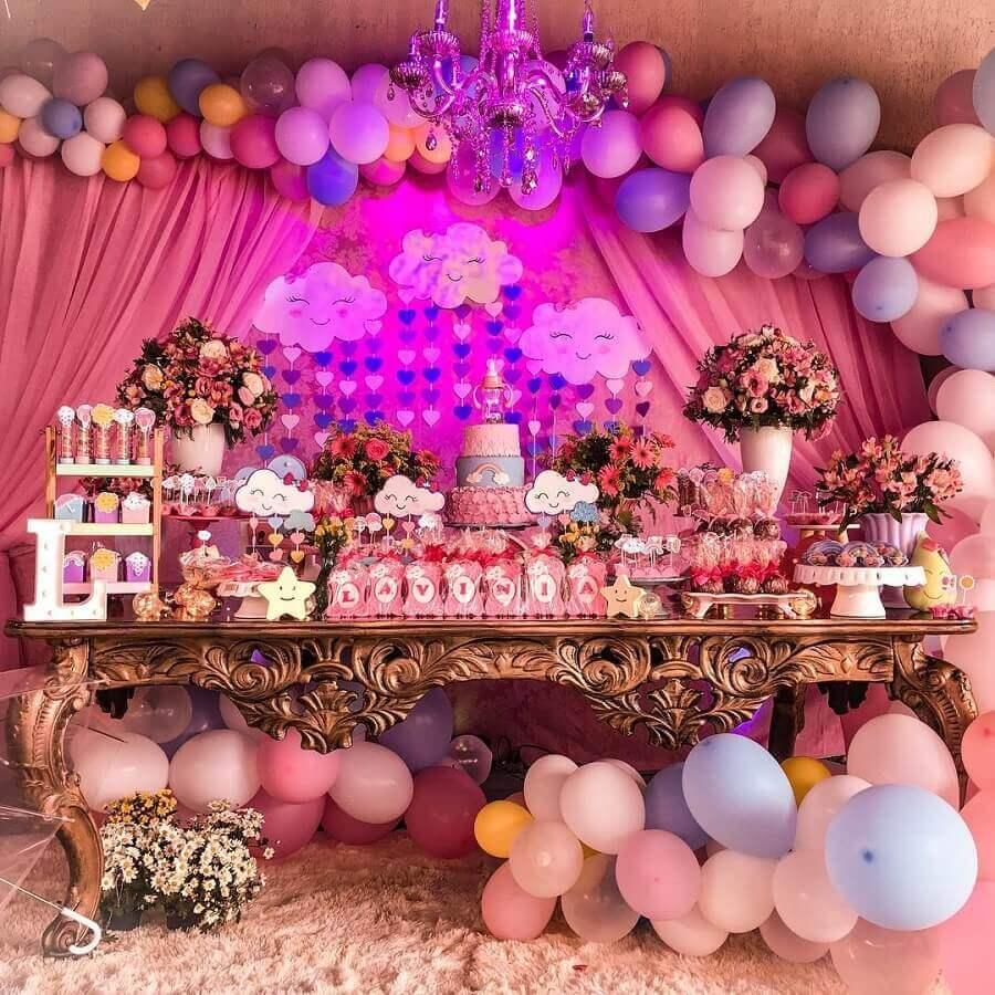 decoração de festa chuva de amor como temas de festa infantil Foto MH Decor Festas