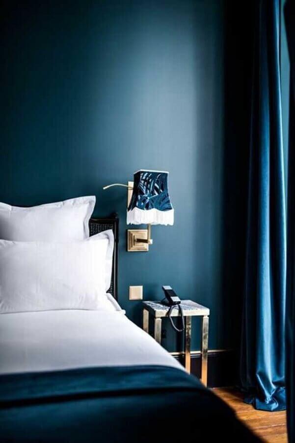 decoração de quarto azul petróleo Foto Pinterest