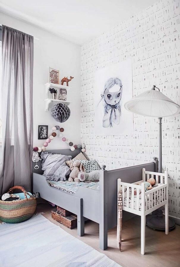 decoração de quarto infantil cinza e branco Foto Home Fashion Trend