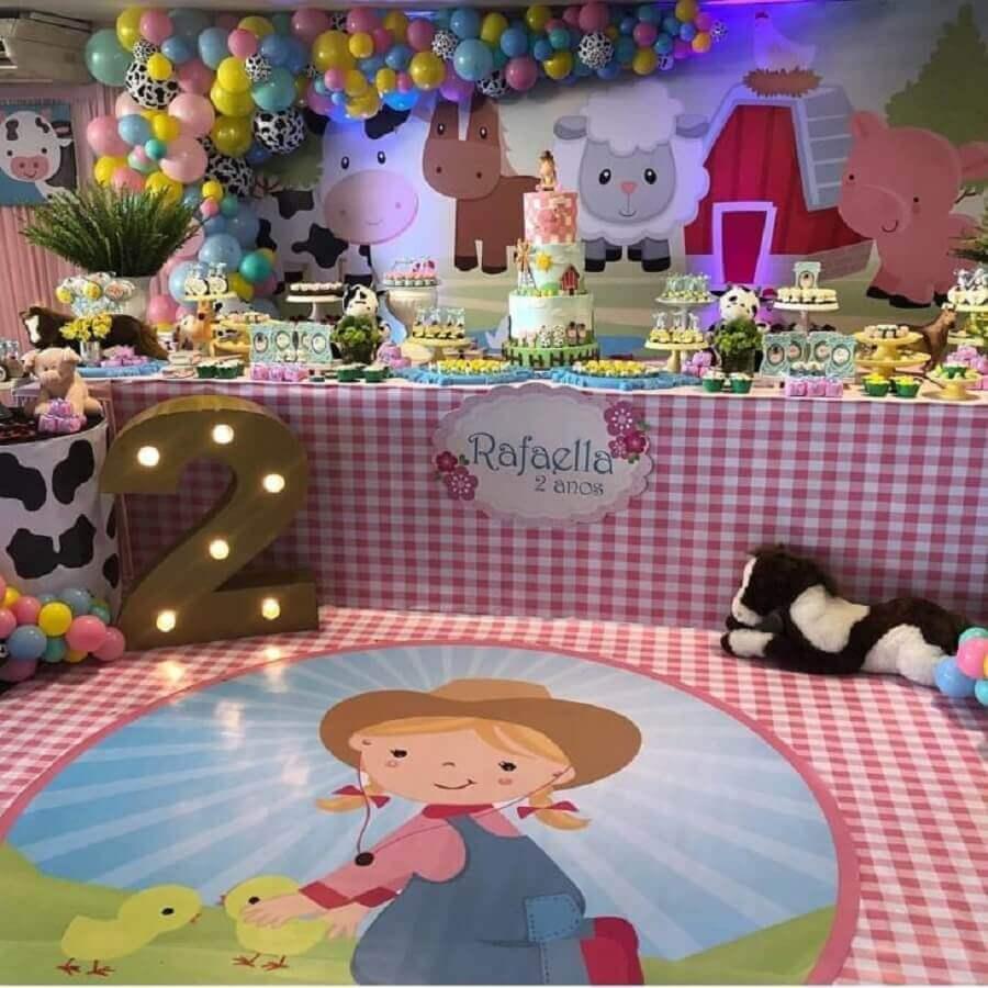 Pink party decoration fazendinha pink Foto Festinha dos Sonhos