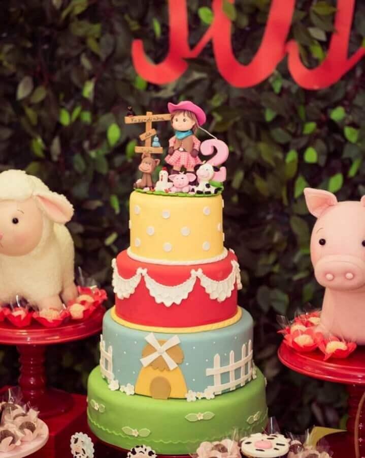 Kids party decoration fazendinha with custom cake Photo Party Decoration