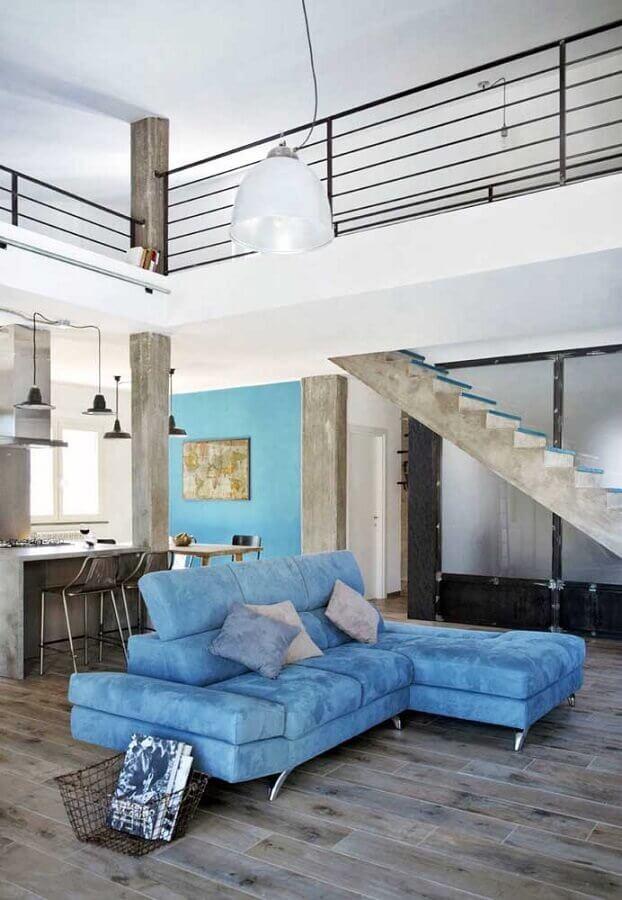decoração moderna com sofá azul claro Foto Archilovers