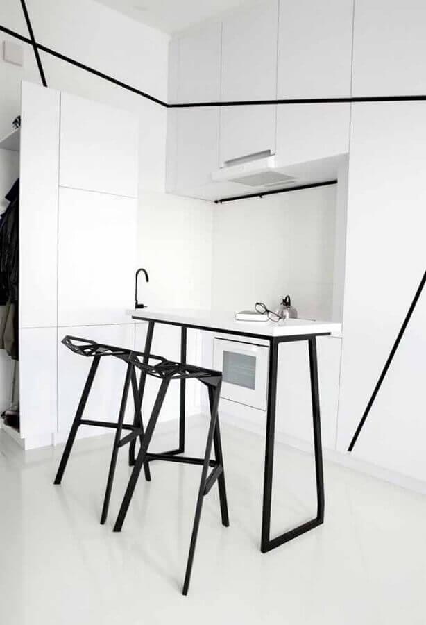 decoração moderna para cozinha planejada branca Foto Rumah Idaman