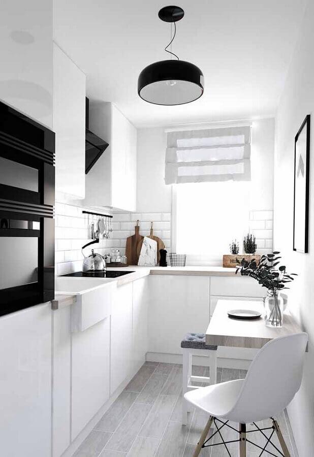 decoração para cozinha planejada branca Foto Wood Save