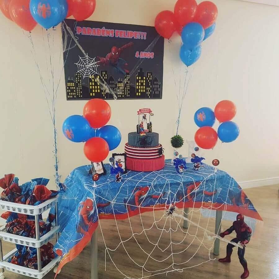 decoração para festa do homem aranha barata Foto Maria Faceira Personalizados