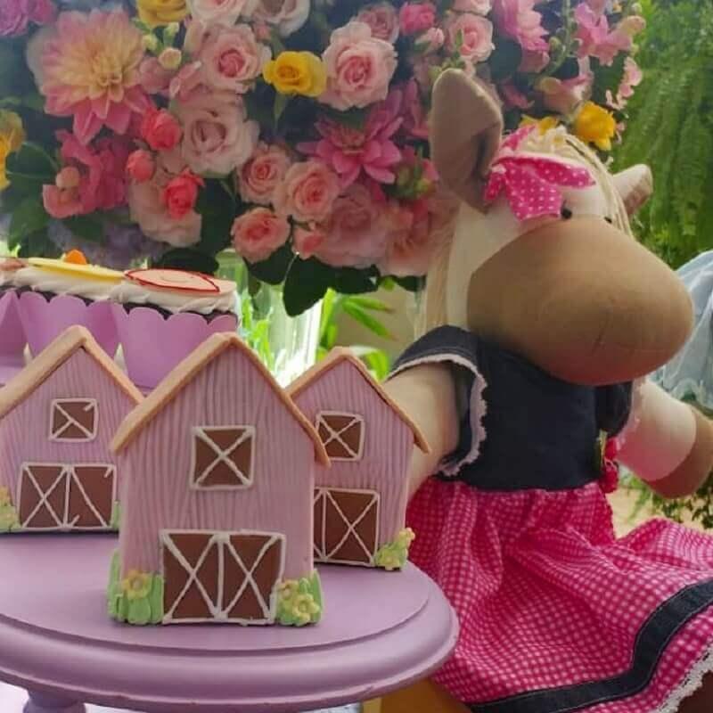 Decoration for pink farm girl party Photo Boutique de 3 Kids