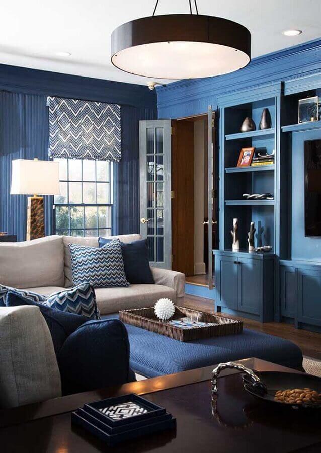 decoração para sala azul petróleo Foto Pinterest