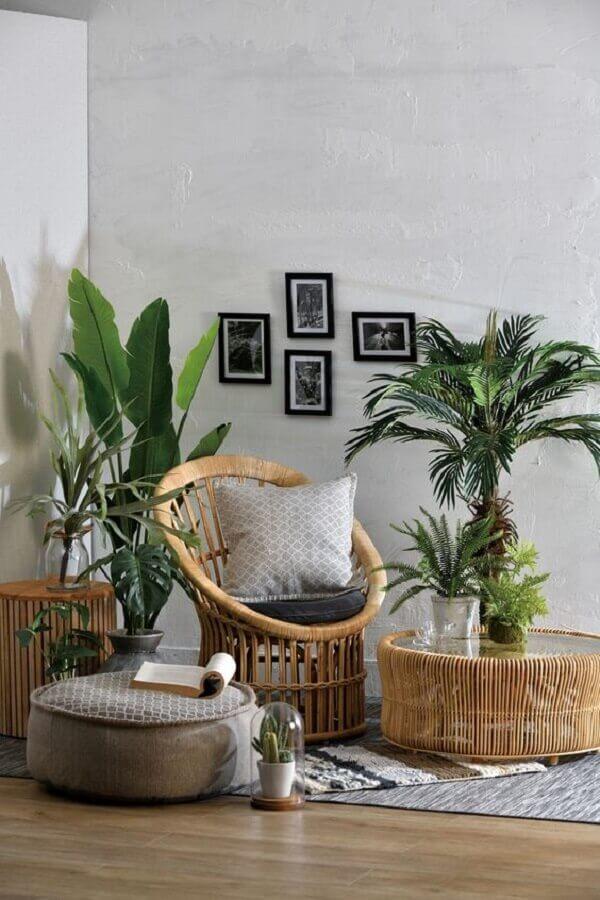 decoração para sala com móveis rattan Foto SimDreamHomes