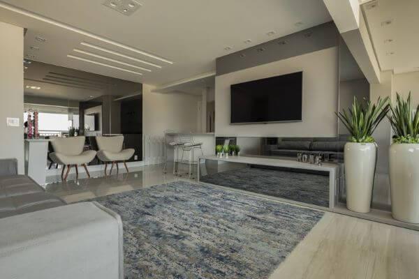 tapete azul para sala