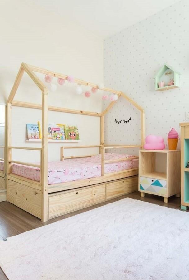 delicada decoração de quarto infantil feminino Foto Home Fashion Trend