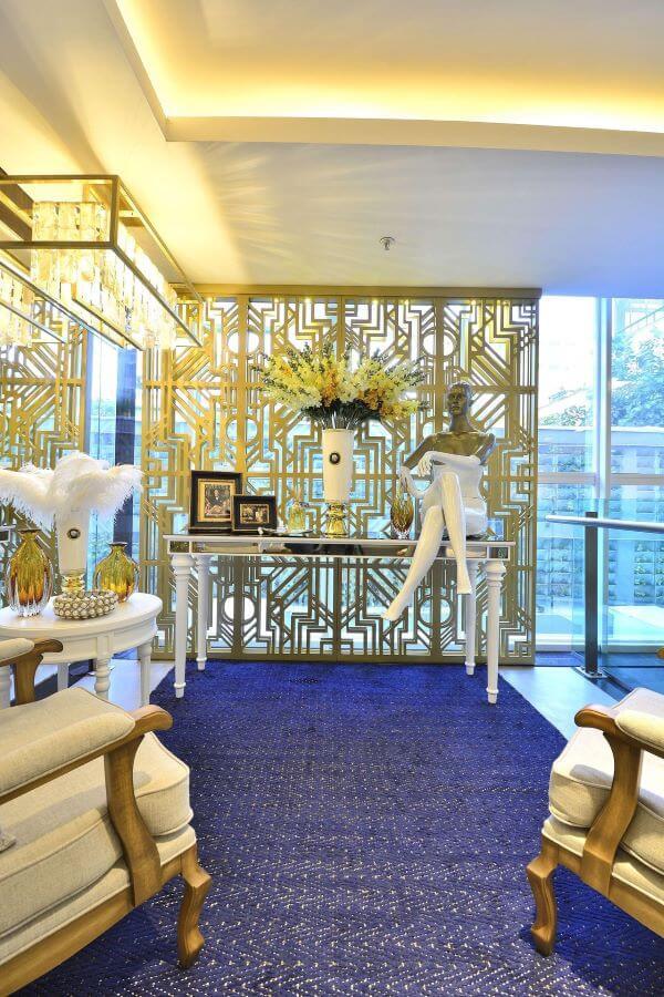 tapete azul royal