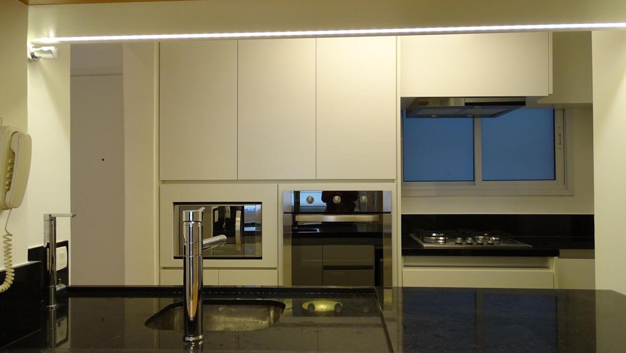 eletrodomésticos para cozinha - cozinha com eletrodomésticos simples embutidos
