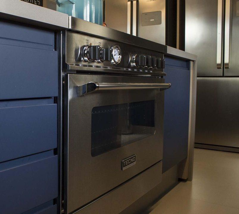 eletrodomésticos para cozinha - fogão inox embutido