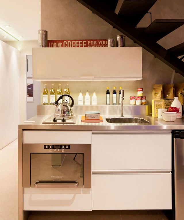 eletrodomésticos para cozinha - pia com eletrodomésticos embutidos