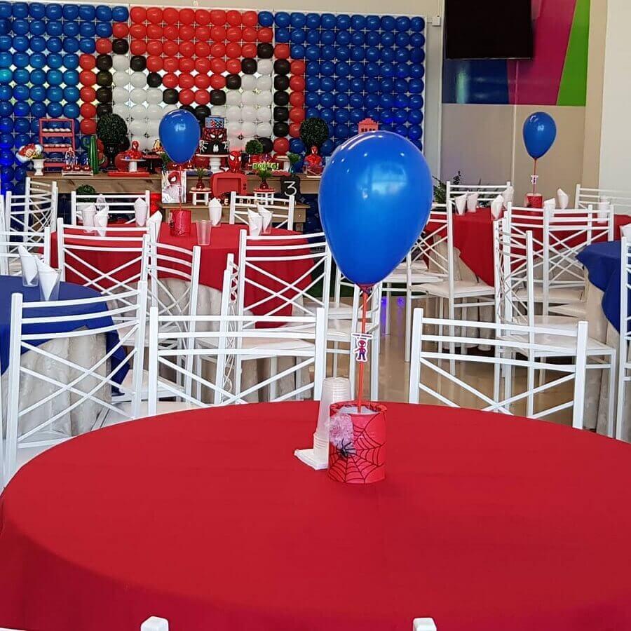 enfeite de mesa para festa do homem aranha simples Foto Eliane Pereira Vale