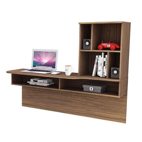 escrivaninha suspensa - escrivaninha com estante