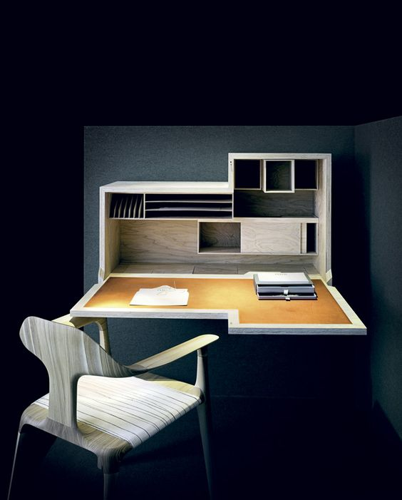 escrivaninha suspensa - escrivaninha com módulos internos
