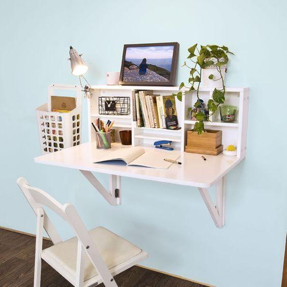 escrivaninha suspensa - escrivaninha com nichos