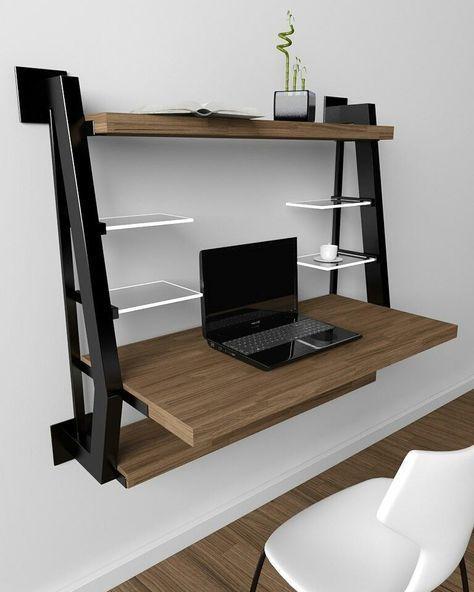 escrivaninha suspensa - escrivaninha com prateleiras