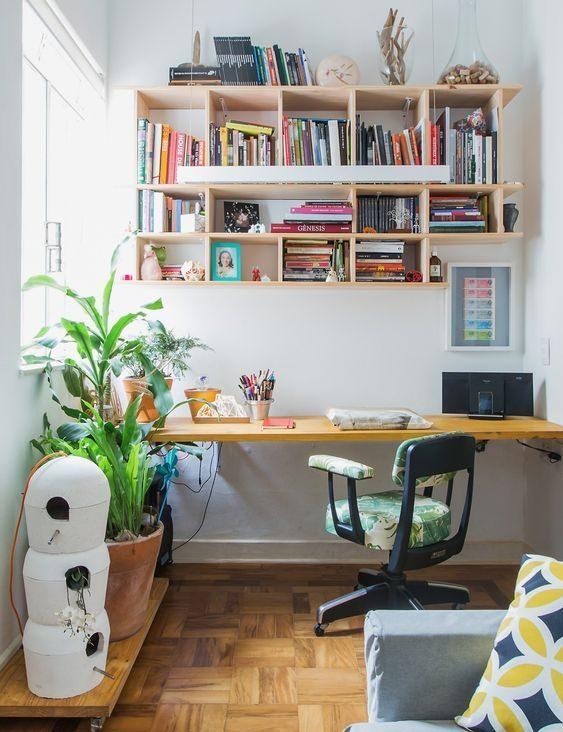 escrivaninha suspensa - escrivaninha com tampo de madeira