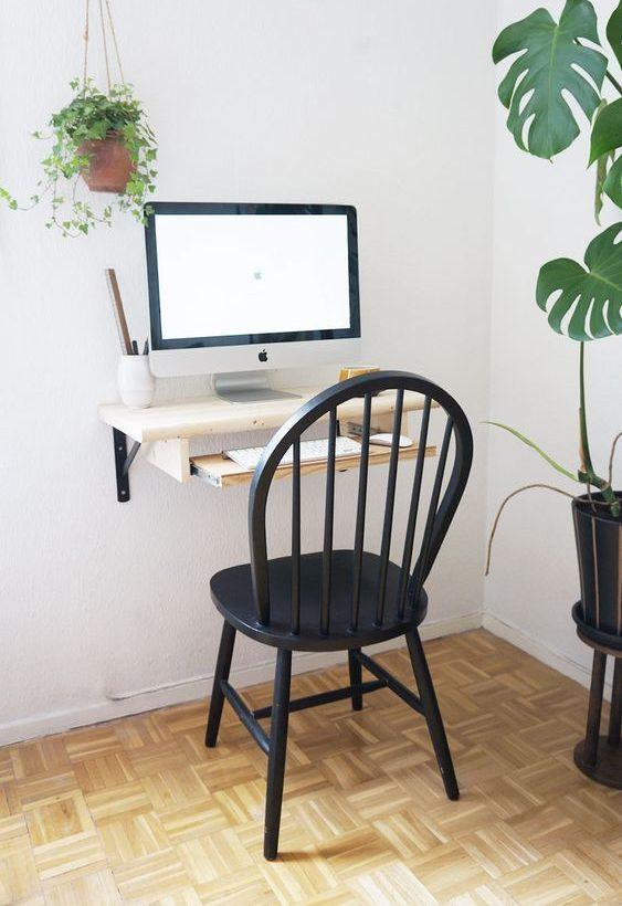 escrivaninha suspensa - escrivaninha suspensa com base para teclado