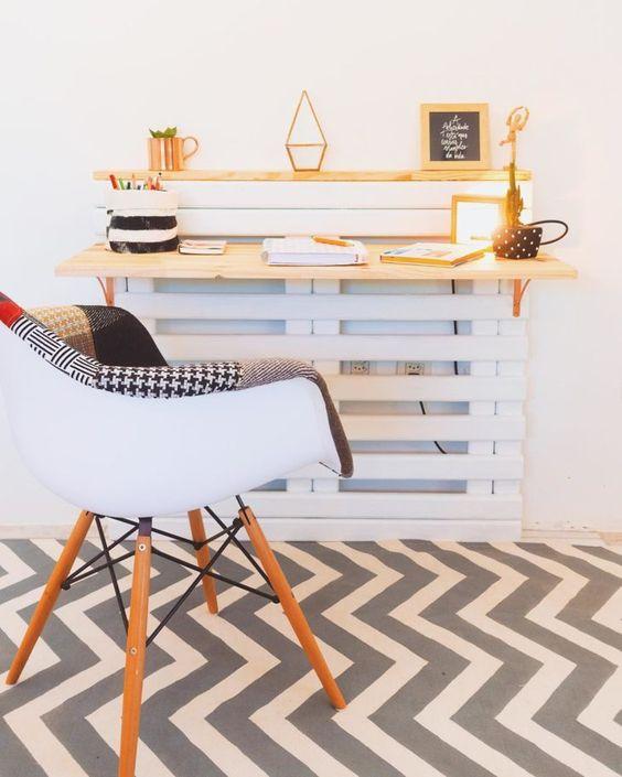 escrivaninha suspensa - escrivaninha suspensa com estrado branco