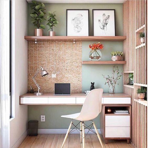 escrivaninha suspensa - escrivaninha suspensa com gavetas em quarto