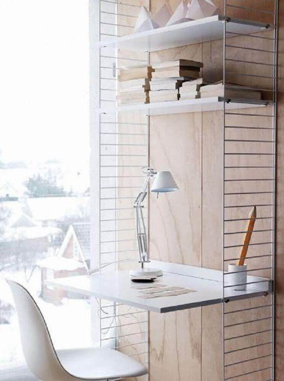 escrivaninha suspensa - escrivaninha suspensa em estrado de metal