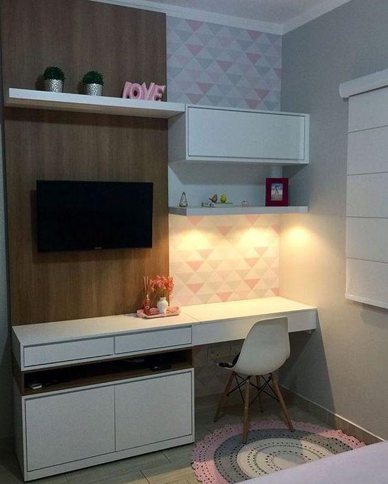escrivaninha suspensa - escrivaninha suspensa em painel para TV