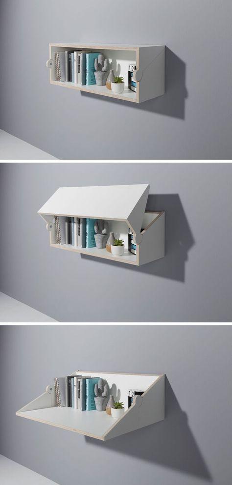 escrivaninha suspensa - nicho que se transforma em escrivaninha