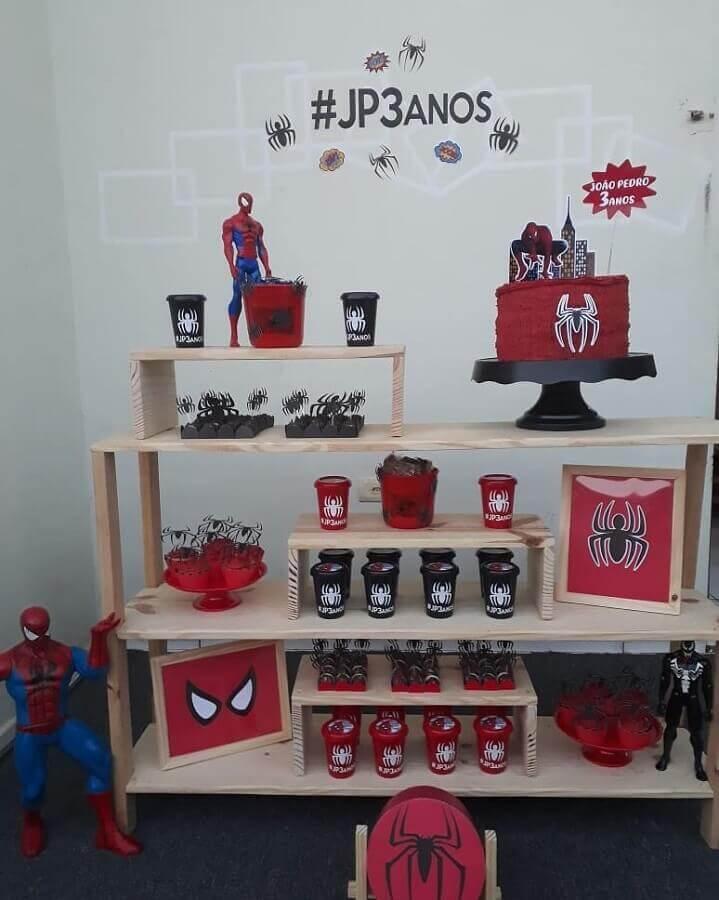 festa do homem aranha barata e rústica Foto Luminartes
