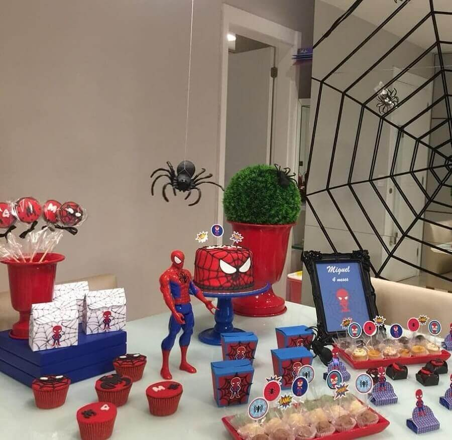 festa do homem aranha simples Foto Tia Ju Pesonalizados