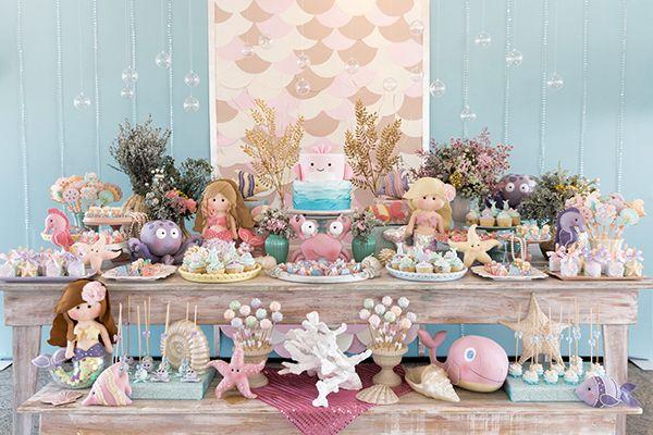 Temas de festa infantil sereia - Por: Pinterest