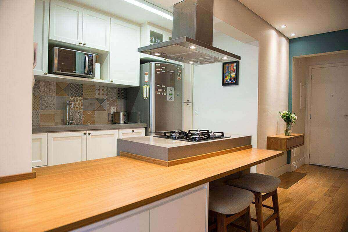 fogão cooktop - cozinha gourmet com cooktop e coifa