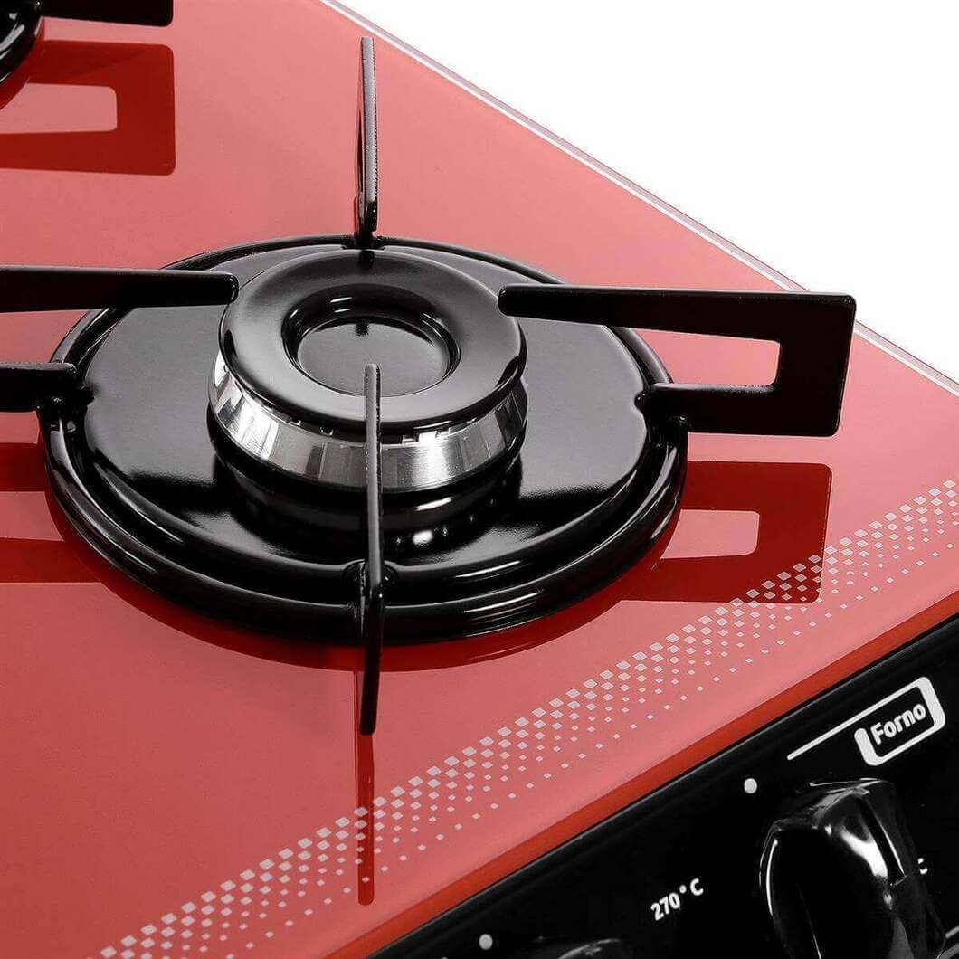 fogão cooktop - fogão cooktop vermelho