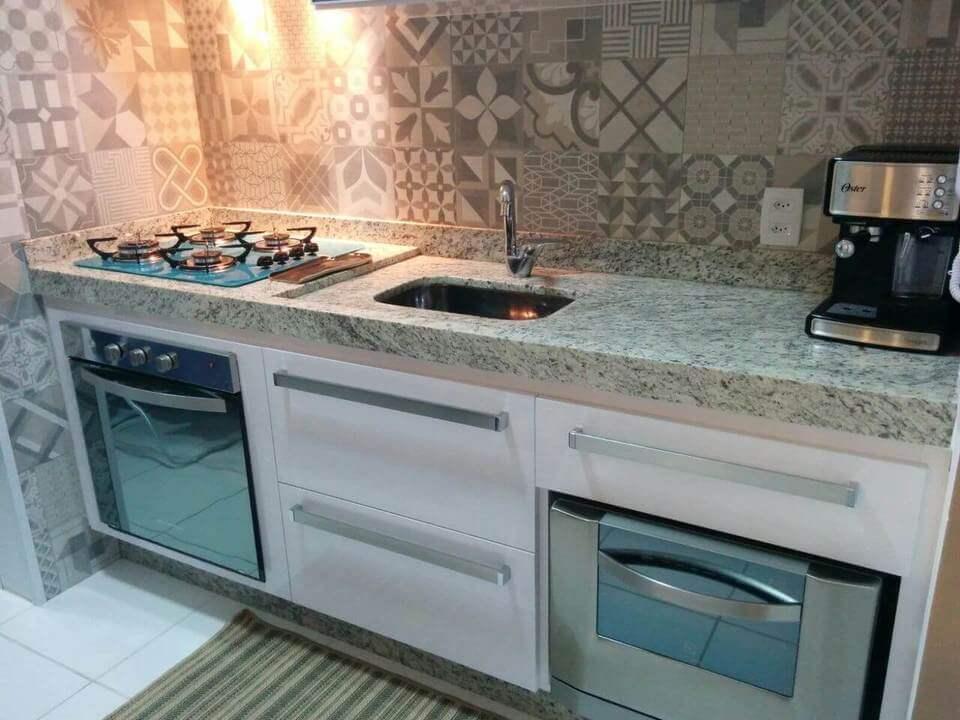 fogão cooktop - ladrilhos e cooktop
