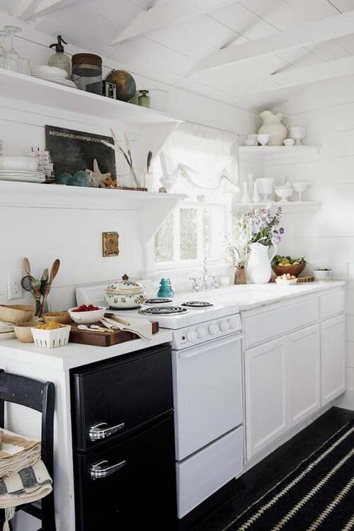 Fogão 4 bocas estilo fogão de piso para cozinhas pequenas