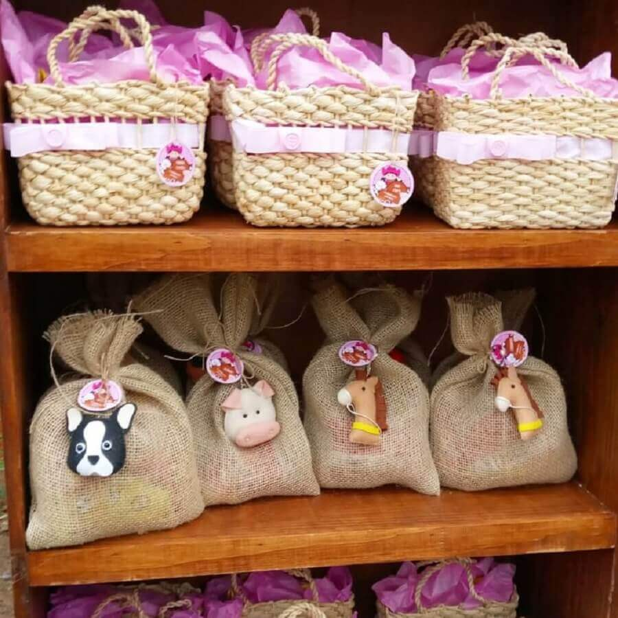 souvenirs party farm with rustic packaging Photo Ballon Children's Party