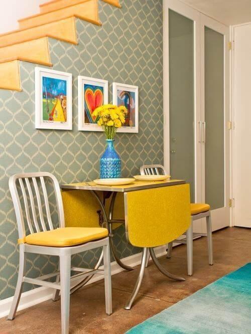 Mesa de parede dobrável para cozinha