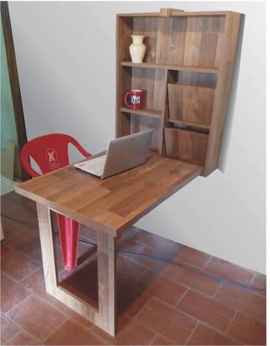 Mesa dobrável de parede