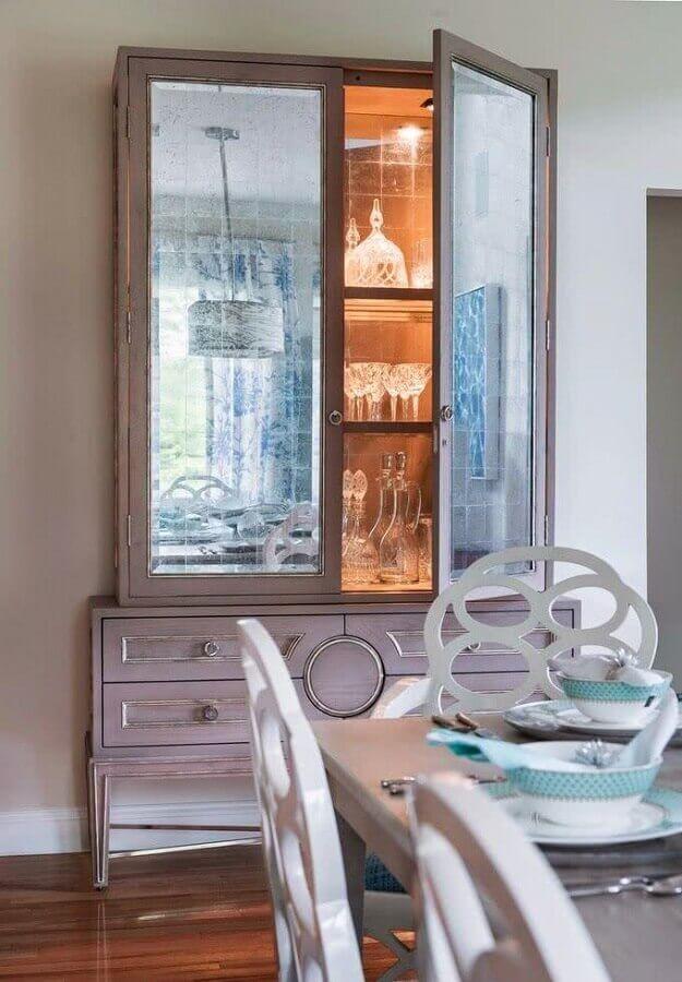 modelo de cristaleira antiga com gavetas Foto Pinterest