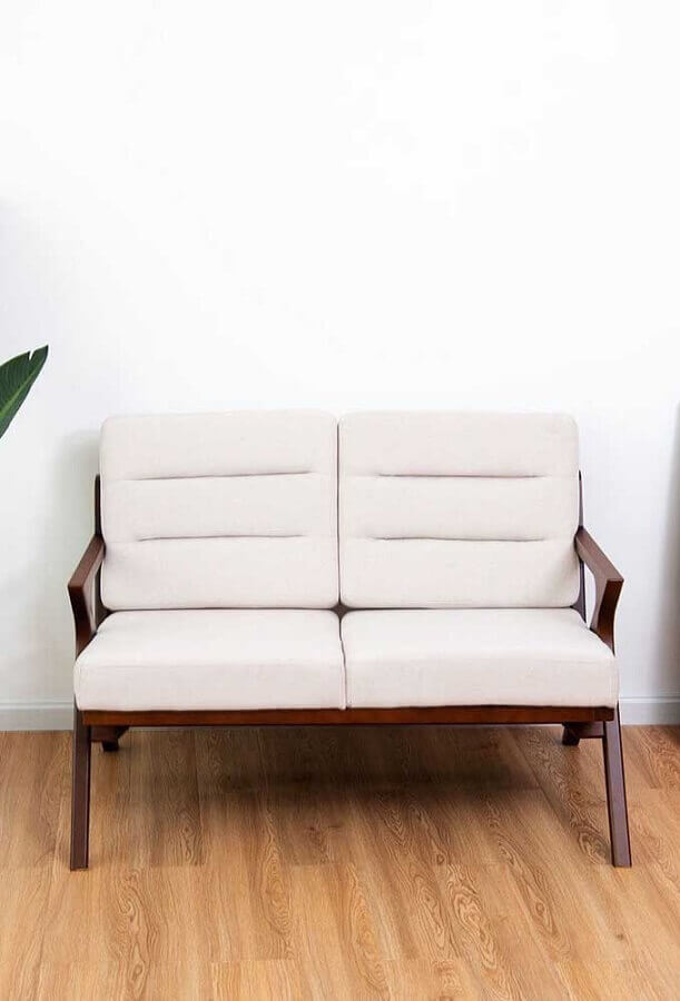 modelo de poltrona namoradeira simples Foto Wood Save