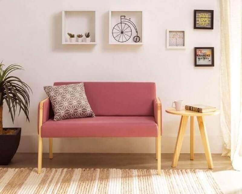 modelo simples de cadeira namoradeira estofada Foto Oppa Design