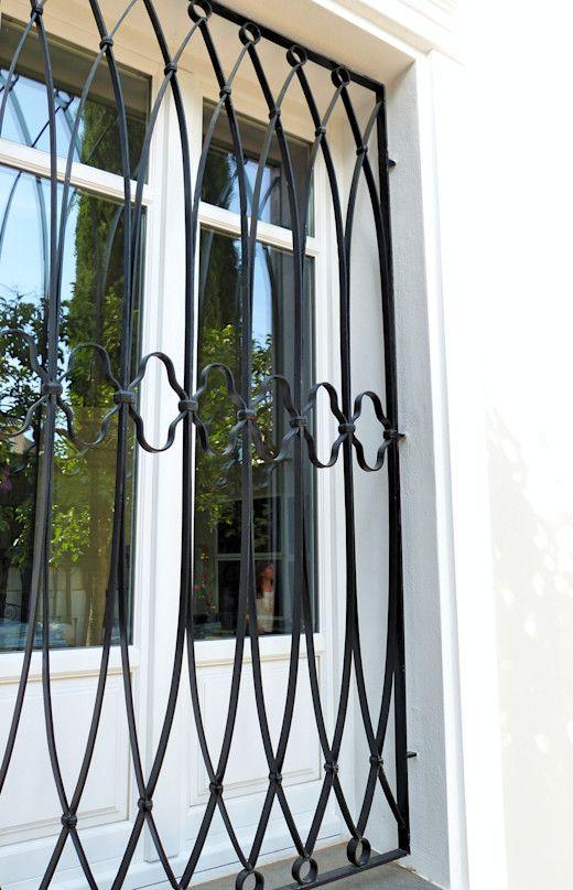 modelos de grades - grade de de janela preta
