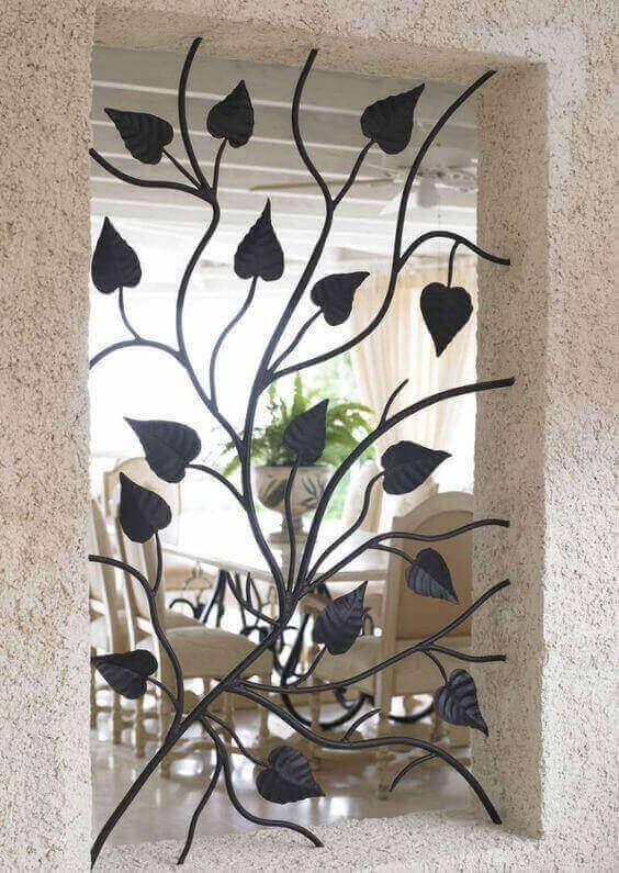 modelos de grades - grade de folhas