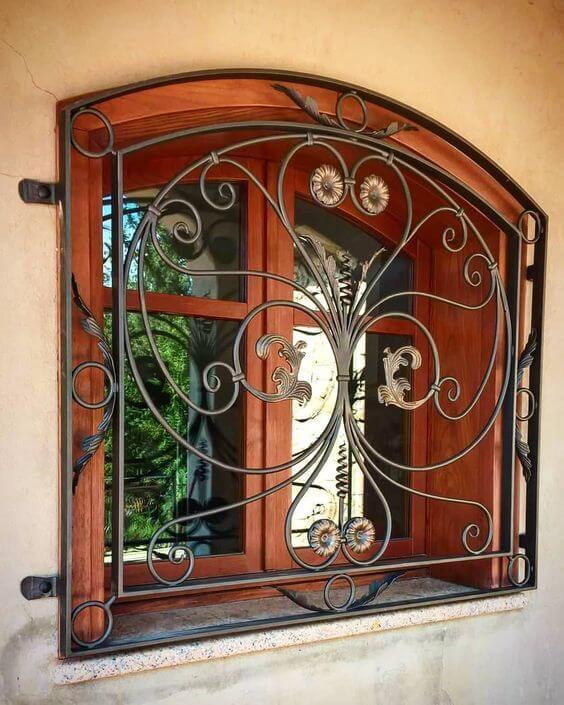 modelos de grades - grade de janela decorada