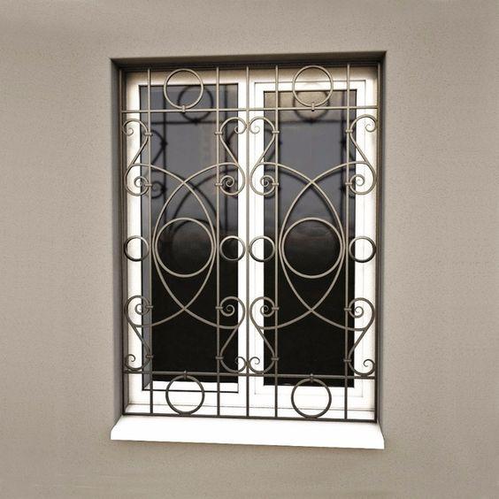 modelos de grades - grade decorada preta