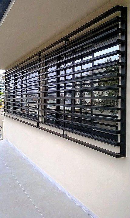 modelos de grades - grade preta moderna
